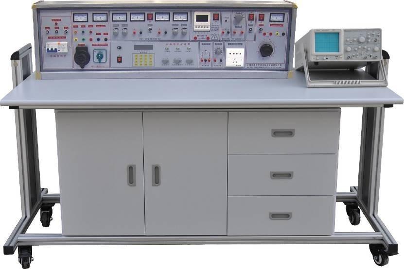 (二),示教控制台:1台示教台,分别控制12台学生实验台的电源,通用电路