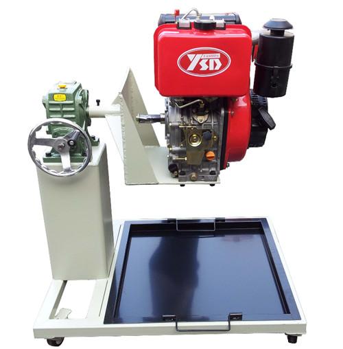 采用170风冷单缸汽油发动机总成(易于拆装),组装在专用发动机拆装翻转
